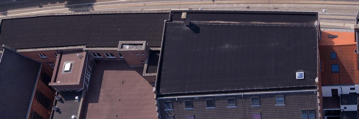 EPDM op plat dak school